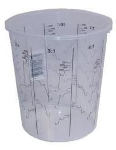 Mengbeker kunststof 1300 ml